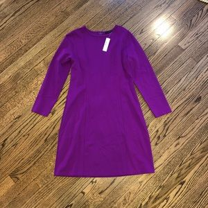 J.Crew long sleeved ponte dress, plus, Medium, NWT